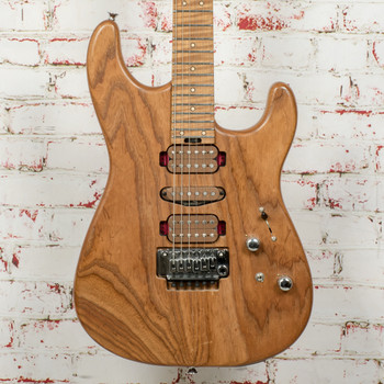 Charvel Guthrie Govan Signature HSH Caramelized Ash Electric Guitar, Caramelized Flame Maple Fingerboard, Natural x1474 (USED)