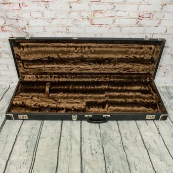 Vintage Fender-Style Brown Fur/Black Tolex Strat/Tele Hardshell Case (39x13x3 inside) x2455 (USED)