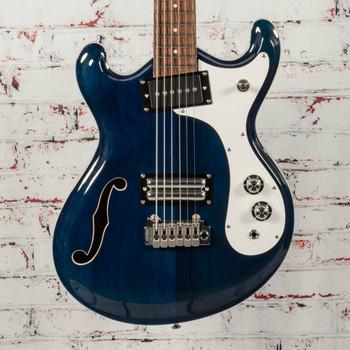 Danelectro 66BT Baritone Electric Guitar Transparent Blue x2579