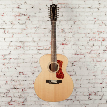 Guild F-2512E Jumbo 12-String Acoustic-Electric Guitar Natural x0998