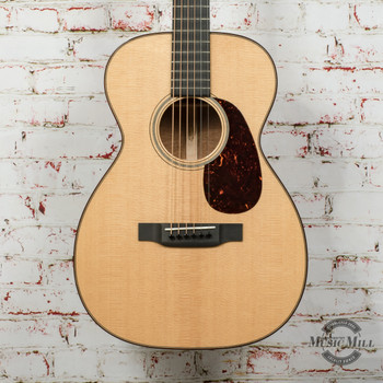 Martin Custom Shop 0 Size 18 Style Acoustic Guitar w/VTS Spruce Top, Pommele Sapelee Back & Sides x0907 (USED)