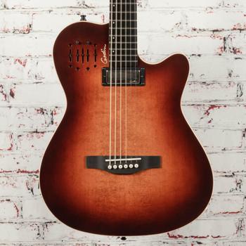 Godin A6 ULTRA Baritone Hybrid Guitar Burnt Umber SG x5177