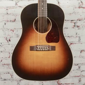 Gibson J-45 Standard 12-String Acoustic Electric Guitar Vintage Sunburst x1021