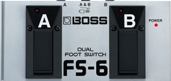 BOSS, FS-6 1/4-Inch Straight Metal Dual Footswitch, Battery-Powered