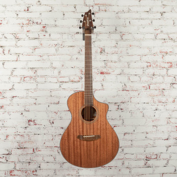 Breedlove Wildwood Concert Satin CE All African Mahogany Acoustic/Electric Guitar x9157