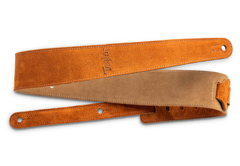 """Taylor Strap, Embroidered Suede, Honey Gold, 2.5"""""""
