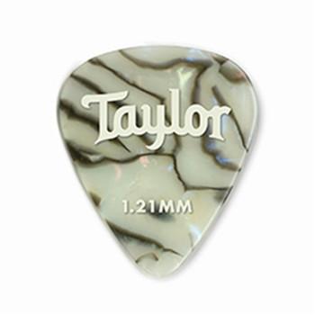 Taylor Celluloid 351 Picks, Abalone, 1.21mm, 12-Pk