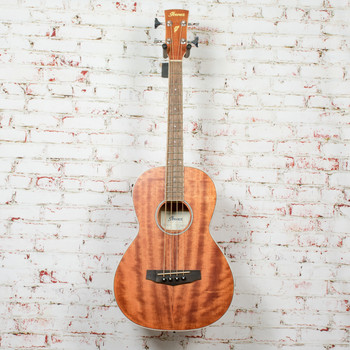 Ibanez PNB14E Parlor Acoustic-Electric Bass Guitar Natural x1971 (USED)
