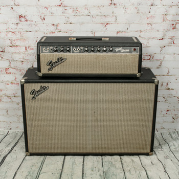 1966 Fender Bandmaster Head w/ Original Cab, Switch, Speaker Cable & Victoria Covers x3144 (USED)
