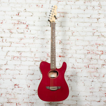Fender Telecoustic Acoustic/Electric Guitar Candy Apple Red As-Is x4411 (USED)