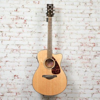 Yamaha FSX700SC Solid Top Concert Cutaway Acoustic Electric Guitar Natural x0170 (USED)