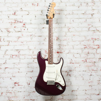 2011 Fender MIM Standard Strat Electric Guitar Midnight Wine x6328 (USED)