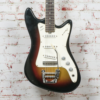 1960s VOX Spitfire Electric Guitar Sunburst w/ OHSC, Made In Italy x1363 (USED)