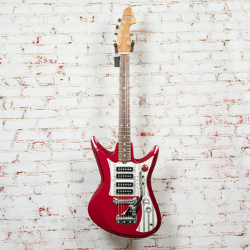 Silvertone Model 1437 Electric Guitar Red w/ HSC x2840 (USED)