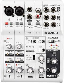 Yamaha AG06 6-Channel Mixer & USB Audio Interface