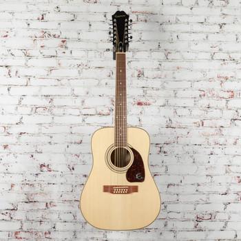 Epiphone DR-212 Dreadnought 12-String Acoustic Guitar Natural x0493