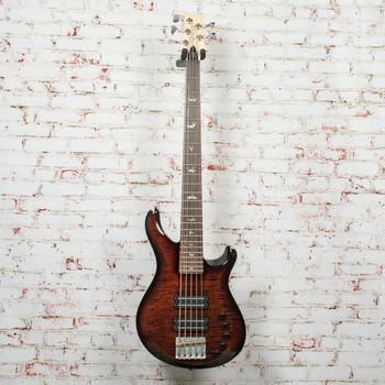 PRS Grainger 5-String Bass 10-Top Orange Tiger Smokeburst w/OHSC x2001 (USED)