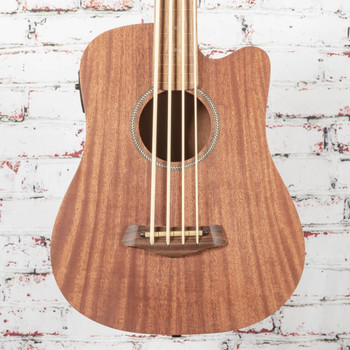 Gold Tone M-Bass FL 23-Inch Scale Fretless Acoustic-Electric MicroBass Natural x1026