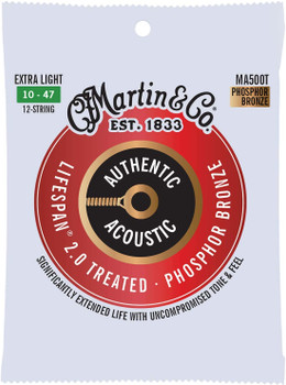 Martin Authentic MA500T Lifespan SP 12-String Set Extra Light .010-.047