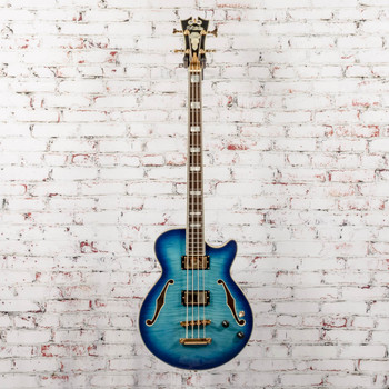 D'Angelico B-Stock Excel Electric Bass Blueburst Archtop x3659