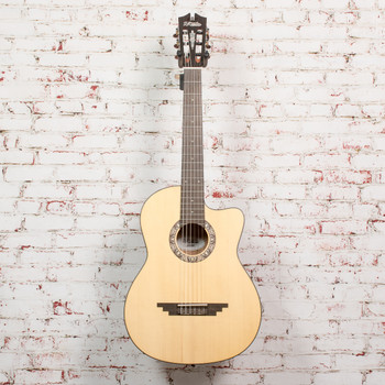 D'Angelico B-Stock Premier Malta Classical Acoustic Guitar - Natural Spruce x0081