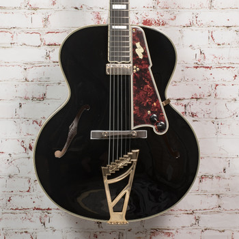 """D'Angelico B-Stock Excel 16"""" Non-Cutaway Hollowbody Style B - Black x1142"""