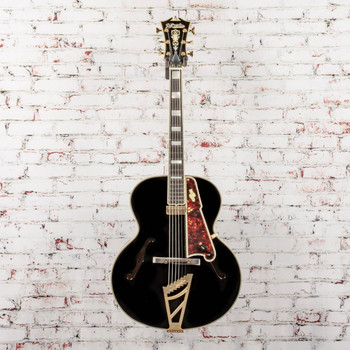 """D'Angelico B-Stock Excel 16"""" Non-Cutaway Hollowbody Style B - Black x1144"""