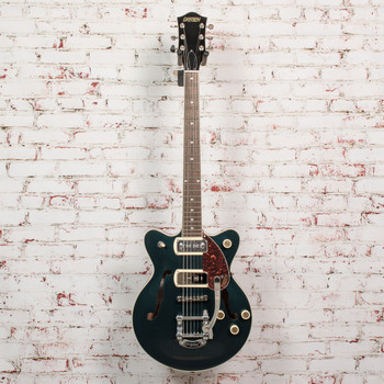 Gretsch G2655T-P90 Streamliner™ Center Block Jr. Double-Cut P90 with Bigsby®, Laurel Fingerboard, Two-Tone Midnight Sapphire and Vintage Mahogany Stain x3029