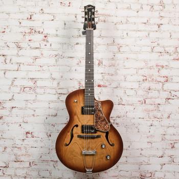 Godin 5th Avenue CW Kingpin II Hollowbody Electric Guitar Cognac Burst x0052