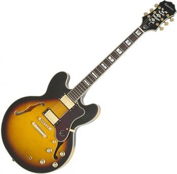 Epiphone Sheraton II Pro Model Semi-Hollowbody Electric Guitar, Vintage Sunburst Finish, Gold Hardware