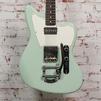 Hinkle Offset T-Style Bridge w/ Antiquity & Double P90, Bigsby, Seafoam xH003 (USED)