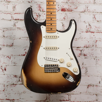 2021 Fender CS S19 '56 Strat Relic 2-Color Sunburst w/OHSC x2861 (USED)