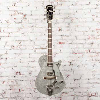 Gretsch G6129T-89 Vintage Select '89 Sparkle Jet™ with Bigsby®, Rosewood Fingerboard, Silver Sparkle x1626