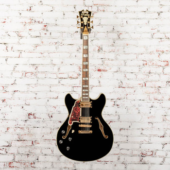 D'Angelico B-Stock Excel DC, Lefty, Semi Hollow, Stopbar -  Black x1590