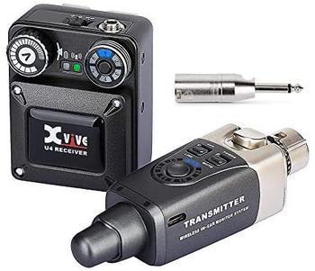 Xvive U4 Wireless In Ear Monitor System, Black