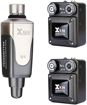 Xvive U4R2 Wireless in-Ear Monitoring System, with Transmitter and Beltpack Receiver (Two Receiver)