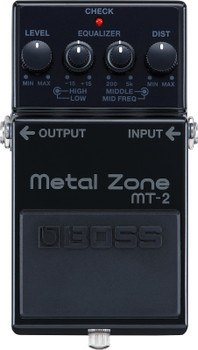 Boss Metal Zone 30th Anniversary Distortion Effects Pedal, Black