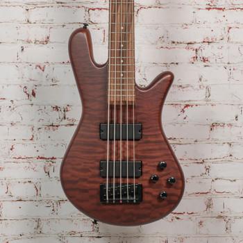 Spector B-stock Legend 5 String Bass Neck-Thru Bass Guitar - Walnut Stain Matte x0851