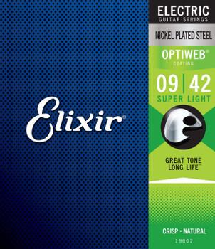 Elixir 19002 Optiweb Coated Nickel Plated Electric Guitar Strings