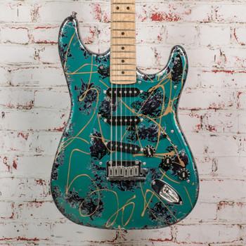 1994 Fender Custom Aluminum Strat, Green/Anodized Guard w/ HSC x0597 (USED)