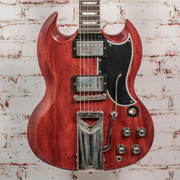 Gibson 60th Anniversary 1961 SG Les Paul Standard Electric Guitar With Sideways Vibrola - Cherry Red x5321