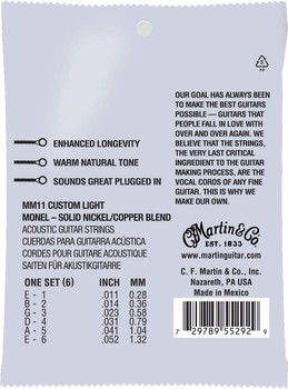 Martin Retro Custon Light Strings .011-.052 41Y19MM11