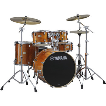 Yamaha Acoustic Drum Kit SBP0F56WHA Stage Custom Birch Shell Package  (Honey Amber)