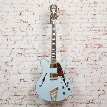 D'Angelico DC Deluxe LE Semi-Hollow Electric Guitar Powder Blue (USED) x1979