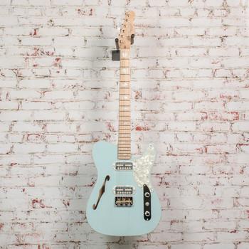 Fender Parallel Universe Volume II Telecaster Magico Electric Guitar, Transparent Daphne Blue x2667