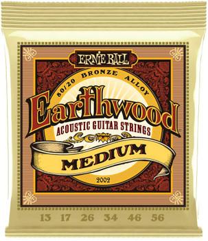 Ernie Ball Earthwood Medium 80/20 Bronze Acoustic Set, .013 - .056