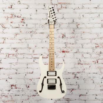 Ibanez B-Stock Paul Gilbert Mikro Signature Electric Guitar White x1570