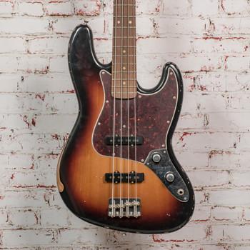 Fender 60th Anniversary Road Worn® Jazz Bass®, Pau Ferro, 3-Color Sunburst x0347 (USED)