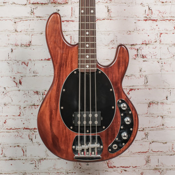 Sterling by Music Man StingRay Ray4 Electric Bass Walnut Stain Black Pickguard x4117 (USED)