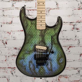 """Kramer Baretta, Custom Graphics, """"Viper"""" - Snakeskin Green Blue Fade x1522"""